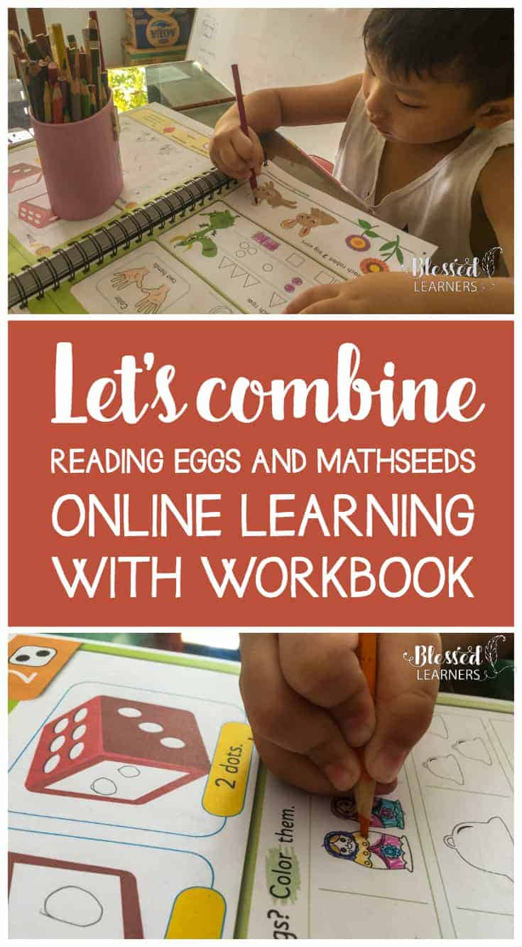 People think that the little learners will get bored to follow up an online learning with workbook. I was wrong about it. It doesn't happen when we use the Reading Eggs Workbook, both the 200 essential Math Skills for Kindergarten and 240 Essential Reading Skills for Kindergarten.