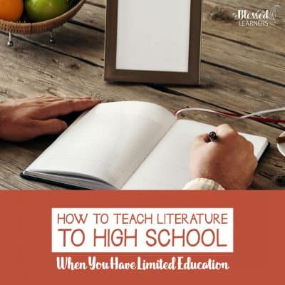 How to Teach Literature to High School When You Have Limited Education
