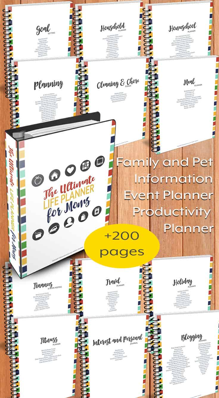 The Ultimate Life Planner for Moms pin1