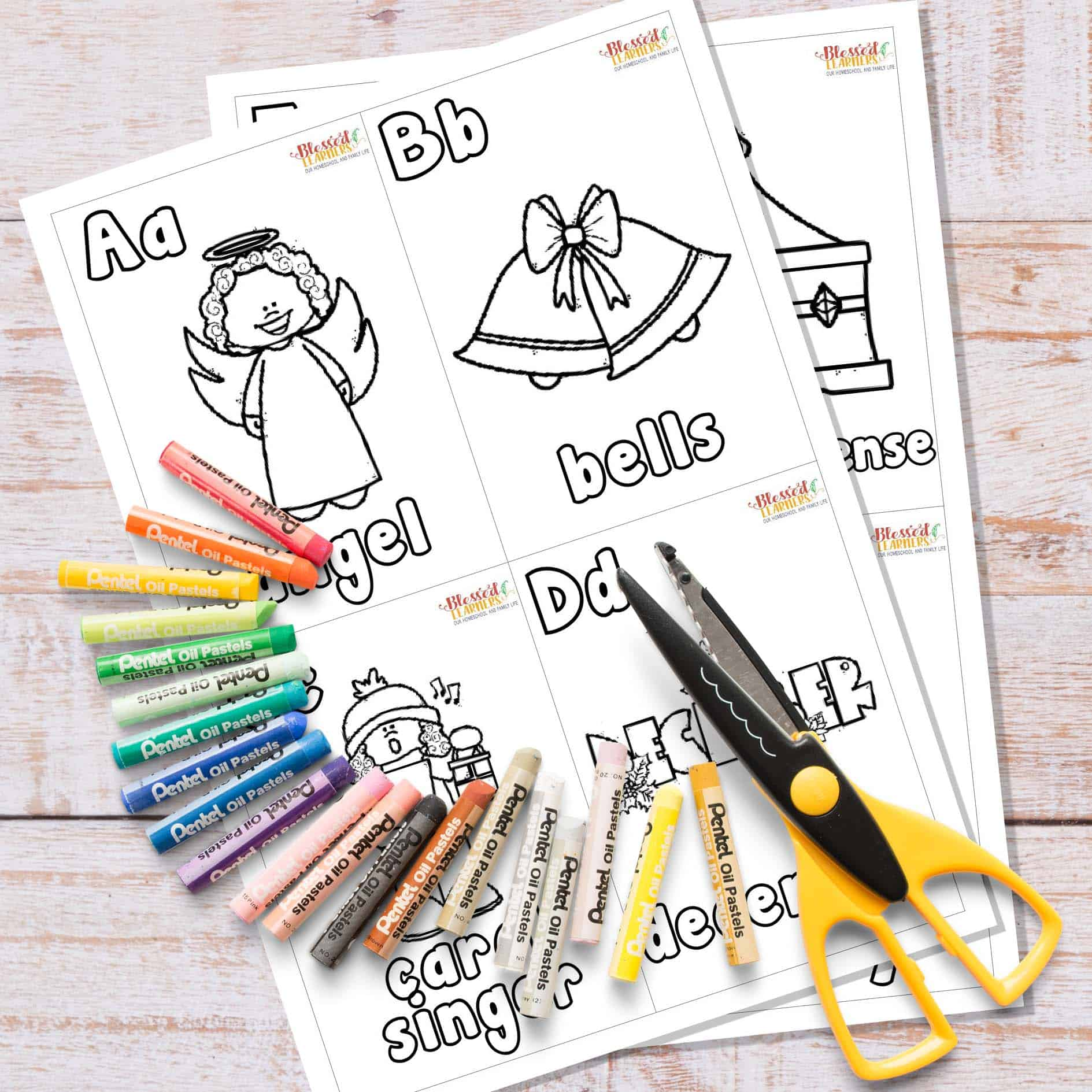free Christmas Alphabet Flashcards