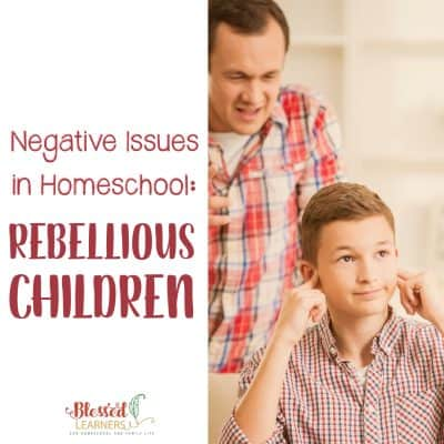 Negative Issues in Homeschool: Rebellious Children