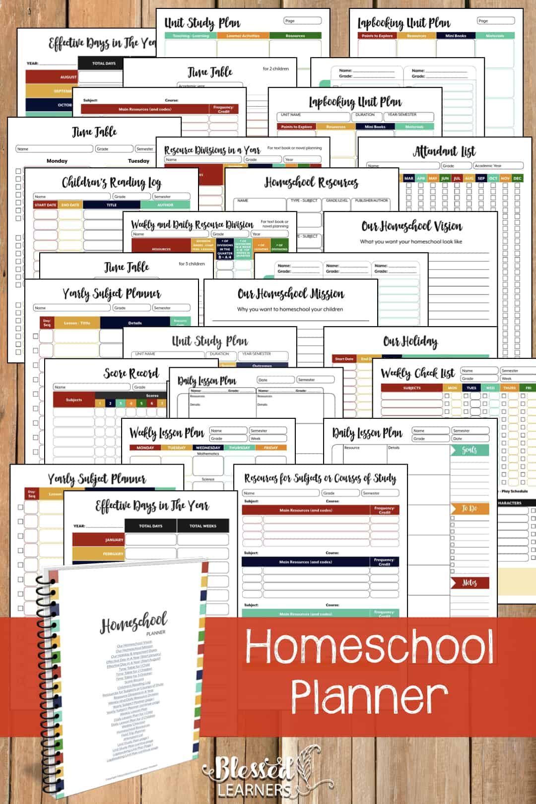 The Ultimate Life Planner Organizer for Moms is the perfect solution to getting most aspects of your home-and-work life well organized. A total of 230+ printable pages you can customize to use are included in the digital file. | Homeschool Planner | #Planner #Printable #TimeManagement #Organizer