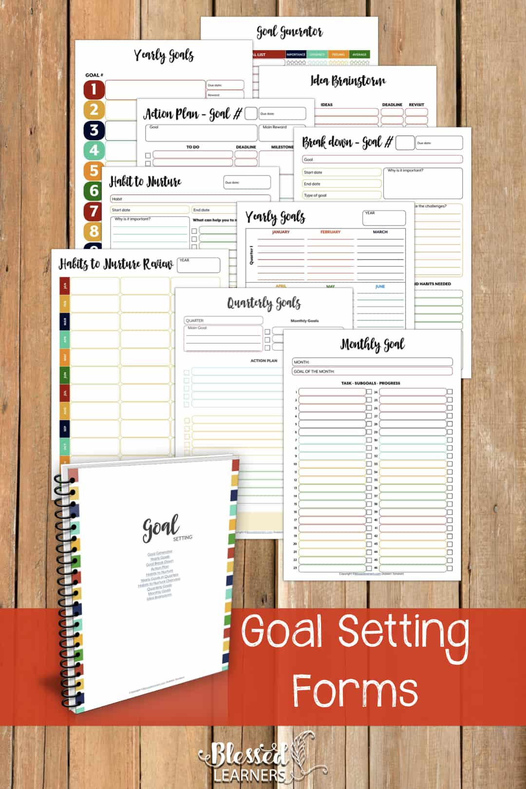 The Ultimate Life Planner Organizer for Moms is the perfect solution to getting most aspects of your home-and-work life well organized. A total of 230+ printable pages you can customize to use are included in the digital file. | Goal Setting Planner | #Planner #Printable #TimeManagement #Organizer