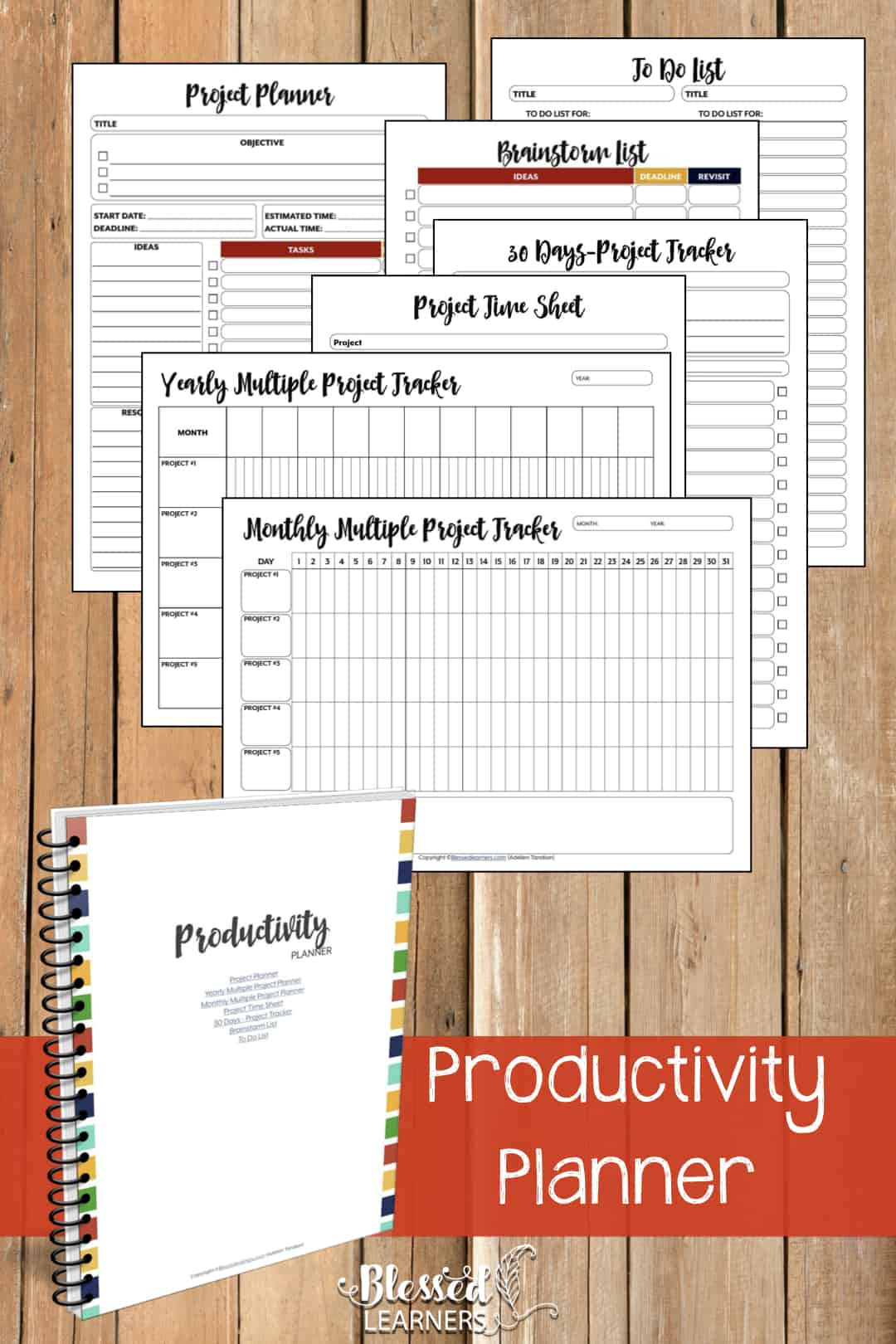 The Ultimate Life Planner Organizer for Moms is the perfect solution to getting most aspects of your home-and-work life well organized. A total of 230+ printable pages you can customize to use are included in the digital file. | Productivity Planner | #Planner #Printable #TimeManagement #Organizer