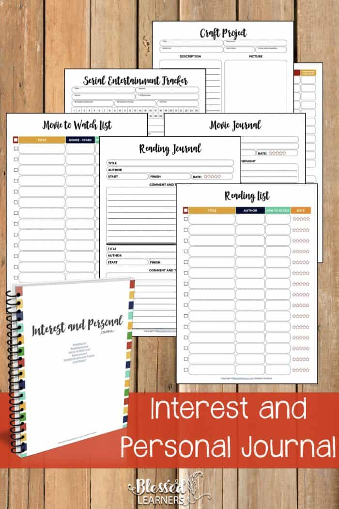 The UltimateLife Planner Organizer for Momsis the perfect solution to getting most aspects of your home-and-work life well organized. A total of230+printable pagesyou can customize to use are included in the digital file. | Interest and Personal Journal | #Planner #Printable #TimeManagement #Organizer