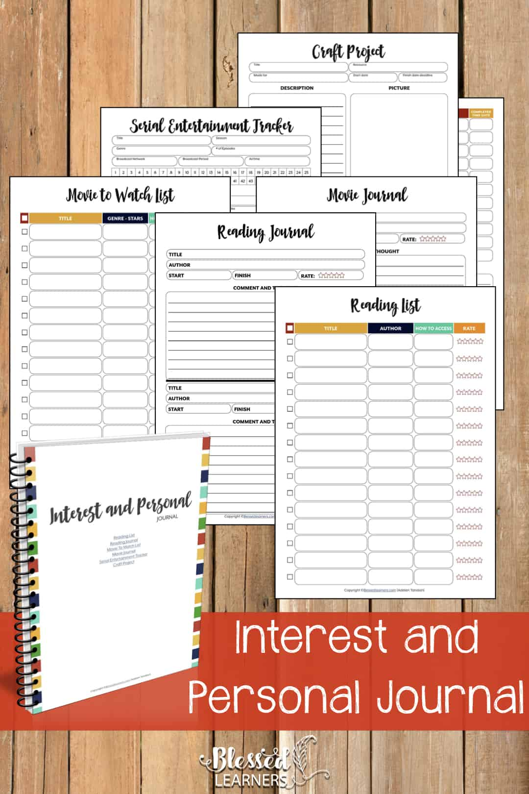 The Ultimate Life Planner Organizer for Moms is the perfect solution to getting most aspects of your home-and-work life well organized. A total of 230+ printable pages you can customize to use are included in the digital file. | Interest and Personal Journal | #Planner #Printable #TimeManagement #Organizer