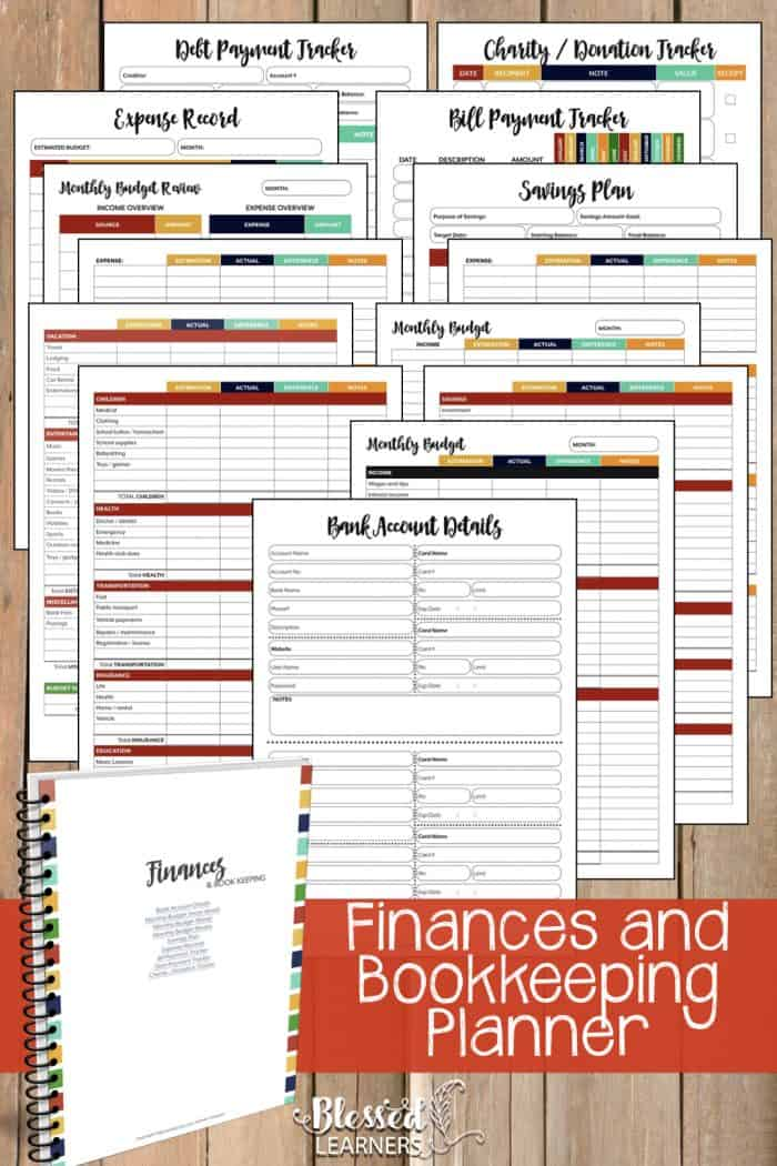 The Ultimate Life Planner Organizer for Moms is the perfect solution to getting most aspects of your home-and-work life well organized. A total of 230+ printable pages you can customize to use are included in the digital file. | Finances and Bookkeeping Planner | #Planner #Printable #TimeManagement #Organizer