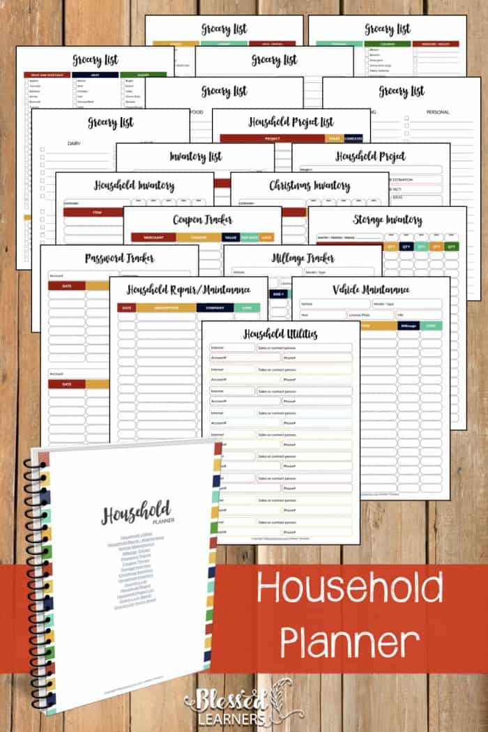 The UltimateLife Planner Organizer for Momsis the perfect solution to getting most aspects of your home-and-work life well organized. A total of230+printable pagesyou can customize to use are included in the digital file. | Household Planner | #Planner #Printable #TimeManagement #Organizer