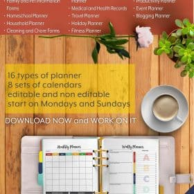 The Ultimate Life Planner Organizer Lifetime Membership is the perfect solution to getting most aspects of your home-and-work life well organized. With over 900 growing features of undated editable calendar and pages in the Ultimate Life Planner organizer, you can help yourself to create a better quality of life. #Planner #Printable #TimeManagement #LifetimeMembership