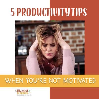 5 Productivity Tips when You're Not Motivated