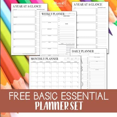 FREE Set of Printable Undated Planners