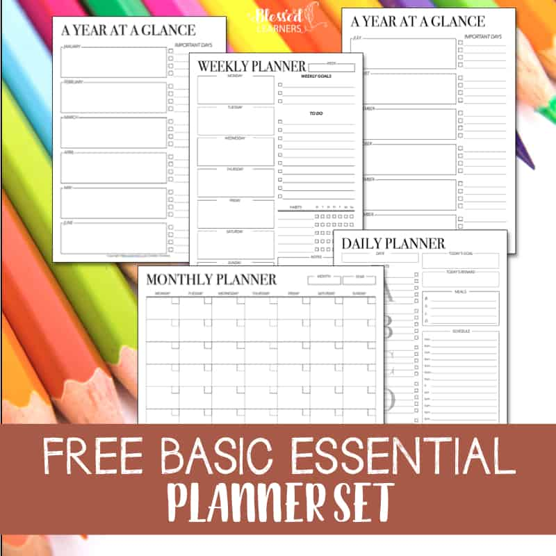 I create a set of basic planners for myself to help me manage my time. Today I am giving away a free set of printable undated planners to help you like how they help me. This freebie set is a part of the Ultimate Life Planner set. #FREEPrintable #Planner #TimeManagement #Productivity