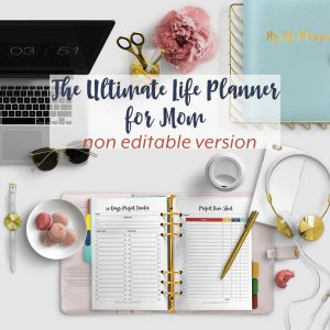 The Ultimate Life Planner Organizer for Moms is the perfect solution to getting most aspects of your home-and-work life well organized. A total of 450+ printable Calendar pages you can customize to use are included in the digital file. #Planner #Printable #TimeManagement #OrganizerThe Ultimate Life Planner Organizer for Moms is the perfect solution to getting most aspects of your home-and-work life well organized. A total of 450+ printable Calendar pages you can customize to use are included in the digital file. #Planner #Printable #TimeManagement #Organizer
