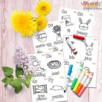 FREE Spring Alphabet Flashcards