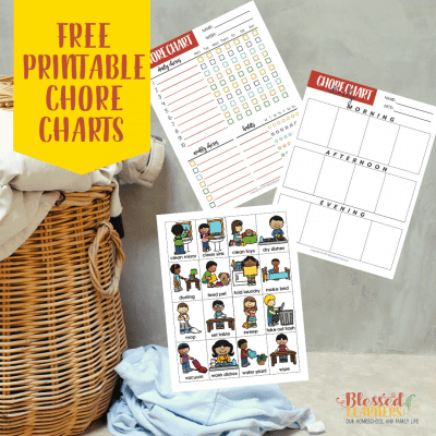 FREE Printable Chore Charts to Track Children's Chores