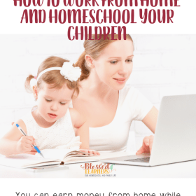 It will take some schedule adjustments and a solid routine to ensure that both homeschool and working at home are getting the attention that they need. Today I'm sharing some tips to show you how to work from home and homeschool your children without any major stress. #Homeschool #Productivity #TimeManagement