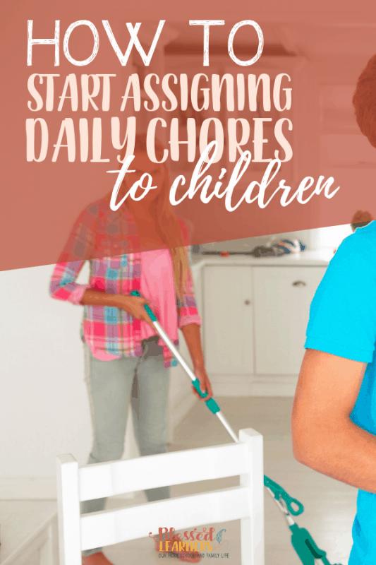 Here are some tips on How to Start Assigning Daily Chores to Children when they are not very young anymore. You can also download A FREE Planner to Start assigning Daily Chores to children #Parenting #Printable #Planner