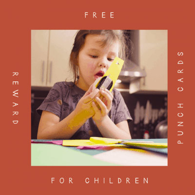 Free Reward Punch Cards for Children