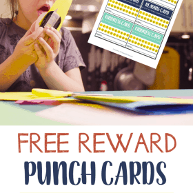 Reward punch cards for children is an incentive to motivate them to do several things that you expect them to do. Today I am giving away free reward punch cards for children. #Printable #Parenting #PunchCards #Chores