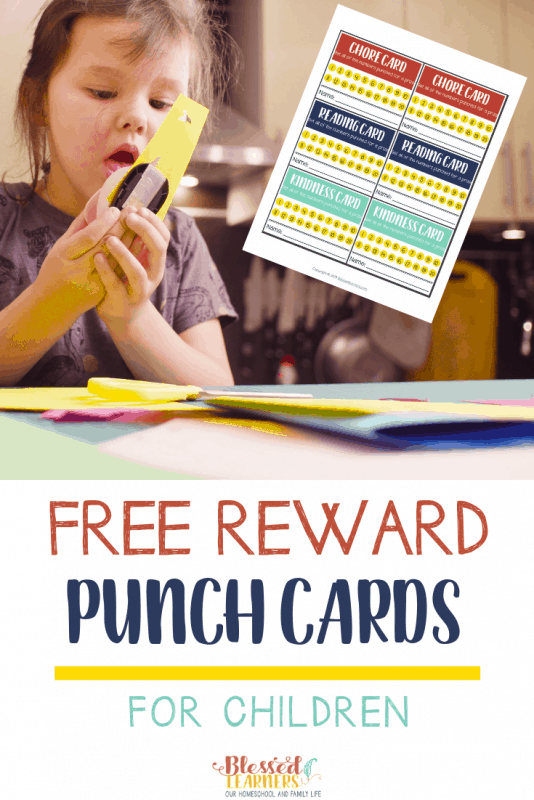 Reward punch cards for children is an incentive to motivate them to do several things that you expect them to do. Today I am giving away free reward punch cards for children.