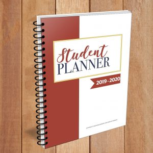 Parents can help them writing their planner until they are ready to be independent. This Student Planner 2019 - 2020 with dates will help both parents and students to practice the time management skills.