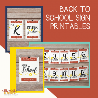 Free 2019 – 2020 Back to School Sign Printables