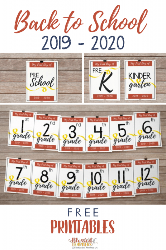 Today I would like to share the latest version of FREE Back to School Sign Printables to welcome 2019 - 2020 school year. I hope it is not too late. Even when it is late, you still can use to catch the moment. #BacktoSchool #Printables #Homeschool