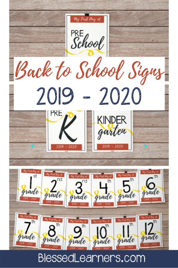 image about To Have and to Hold Your Hair Back Free Printable called Cost-free 2019 - 2020 Back again in direction of Higher education Indication Printables - Fortunate