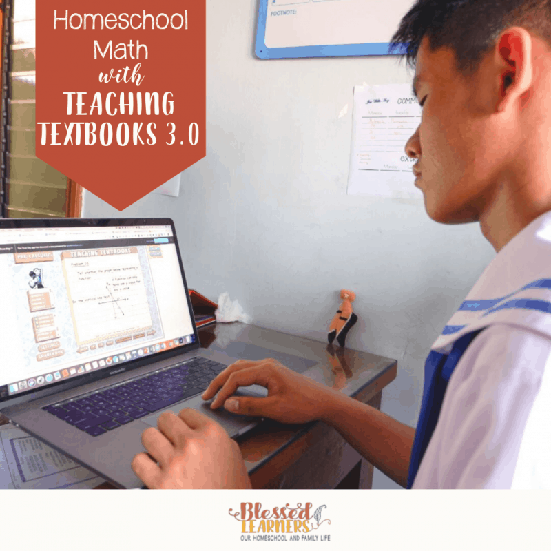 Looking for an online Math curriculum to homeschool children? Why don't you try to Homeschool math with Teaching Textbooks 3.0? It has both interactive and ebook versions to help children learning the concepts and practice it. #Homeschool #Mathematics #OnlineMath #Teachingtextbook