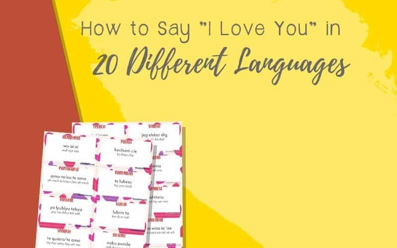Today I would like to share a set of free flashcards of I love you in 20 different languages