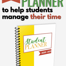 Parents can help them writing their planner until they are ready to be independent. ThisStudent Planner 2018 - 2019 with dates will help both parents and students to practice the time management skills. #StudentPlanner #Homeschool #TimeManagement #Parenting