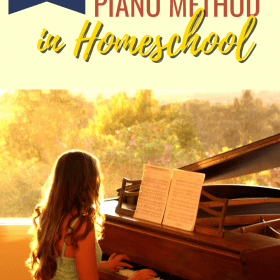 Revolutionary Piano Method. It is a great homeschool piano teaching method that we are using to learn piano at home. #Homeschool #MusicLesson #PianoLesson