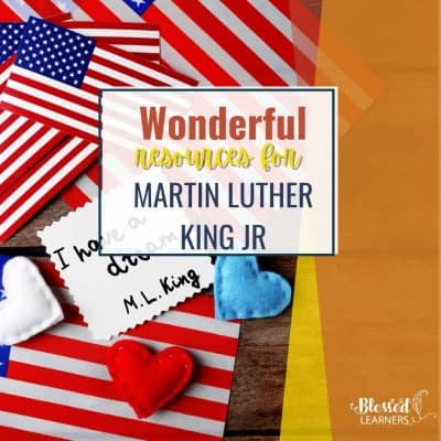Today I would like to share a list of Martin Luther King Jr. resources you can compile into a fabulous unit study for the young to older kids.