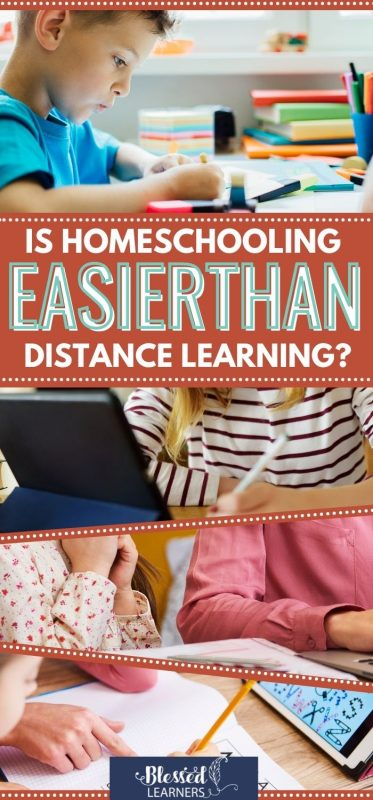 Can distance learning replace the responsibility of parents in homeschooling because it looks more complex? Is homeschooling easier than distance learning?