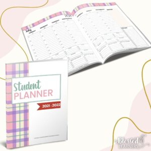 Parents can help them writing their planner until they are ready to be independent. ThisStudent Planner 2021 - 2022 with dates will help both parents and students to practice time management skills.